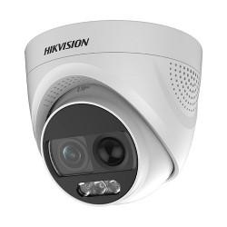 Camera Dome HD TVI Hivision 2.0MP DS-2CE72DFT-PIRXOF (có màu 24/7 + tích hợp còi + đèn báo động)