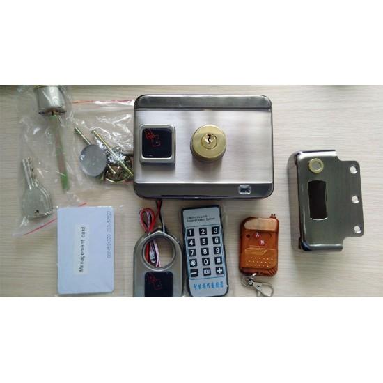 Khóa cửa cổng điện tử - tích hợp thẻ từ + remote không dây