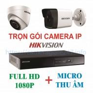 Trọn gói camera ip Hikvision HD 1080P tích hợp micro thu âm