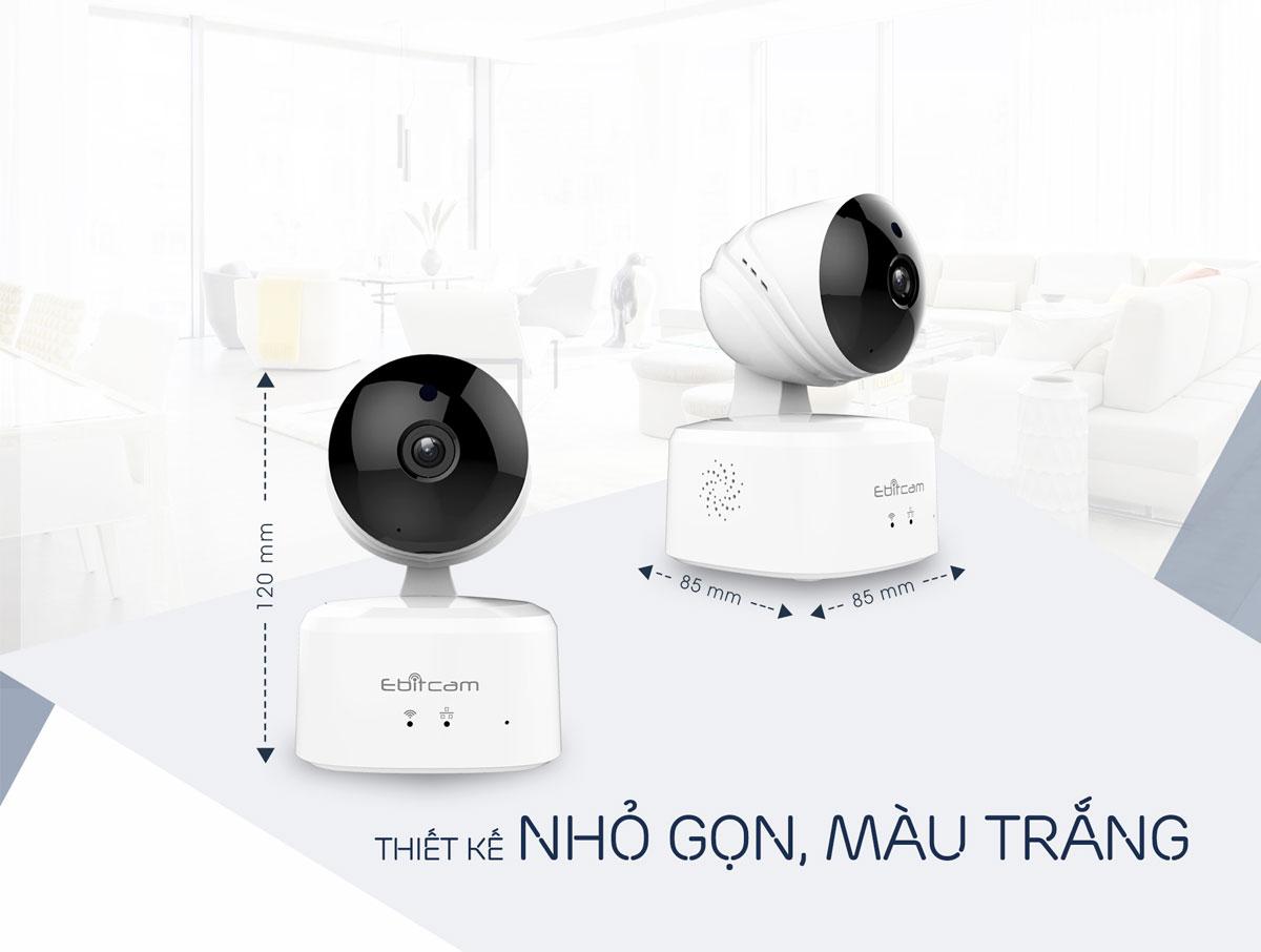 camera ip wifi ebitcam e2 1080P 2mp thiết kế nhỏ gọn
