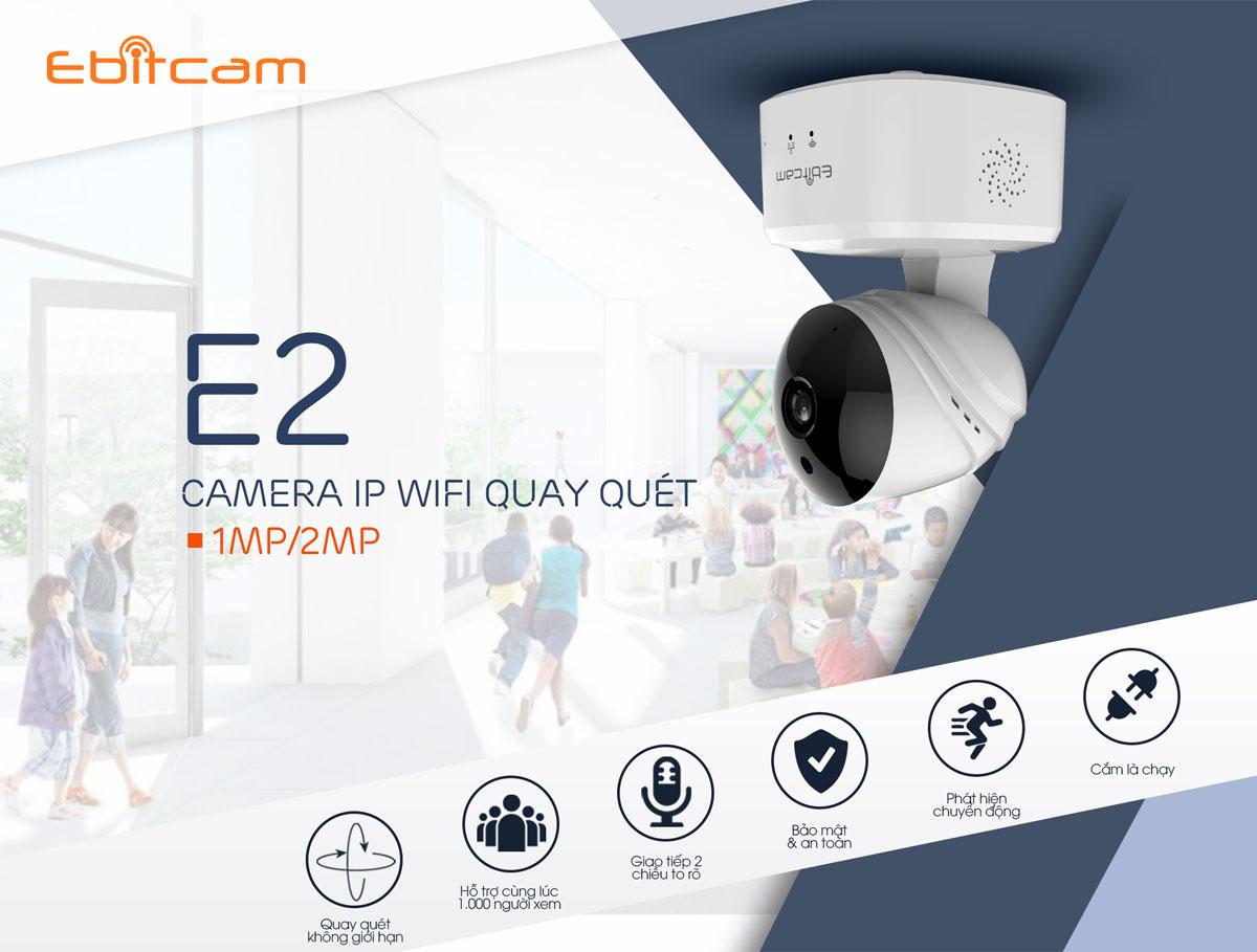 Chi tiết camera ip wifi ebitcam e2 1080P 2mp