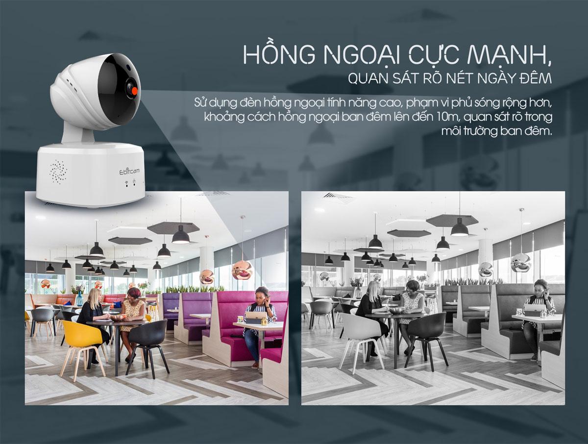 camera ip wifi ebitcam e2 1080P 2mp hình ảnh rõ nét
