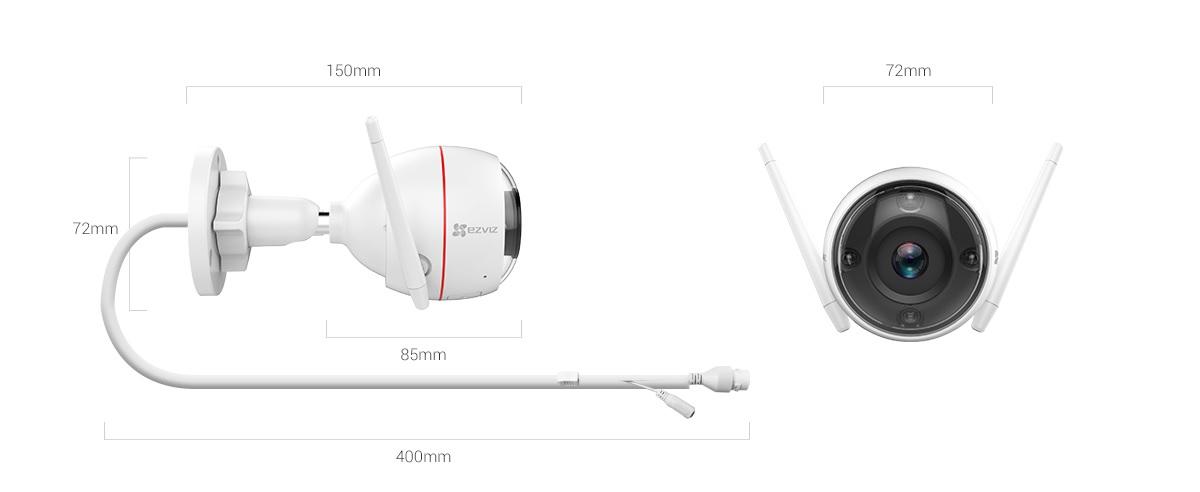Thông số kỹ thuật camera ezviz color night vision hd1080P