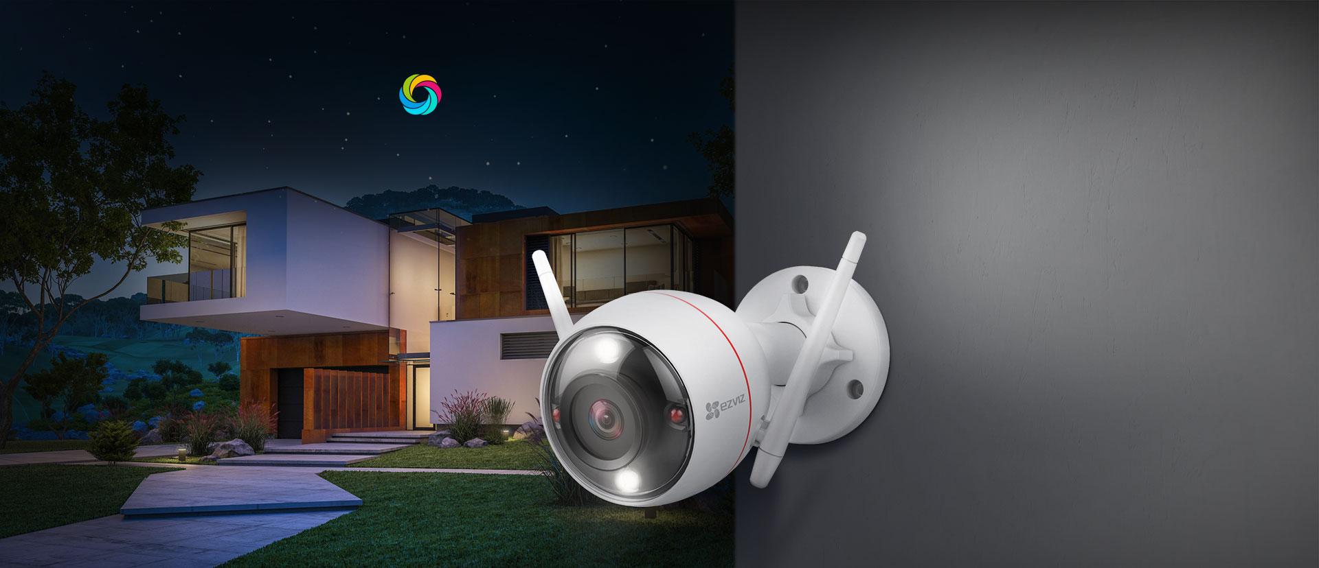 camera ezviz C3W có màu ban đêm